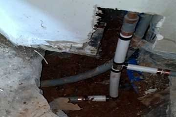 Busted water pipes in Las Vegas, NV.